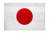 Japan Flag Design with Wood Patterning - Flags of the World Series