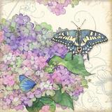 Hydrangea & Butterflies
