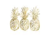 Three Golden Pineapples