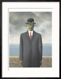 Le fils de l'homme, 1964 Reproduction encadrée par Rene Magritte