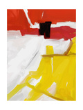 Large White  Yellow and Red Abstract Digital Painting