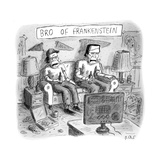 TITLE: Bro of FrankensteinFrankenstein's monster and bro watch television  - New Yorker Cartoon