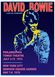 "David Bowie ""Live concerts"" CD promotional poster"