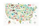 Illustrated USA Reproduction d'art par Michael Mullan