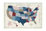 USA Modern Vintage Blue