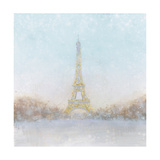 Eiffel Romance no Couple Turquoise Reproduction d'art par Marco Fabiano