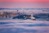 Fog City Dream  San Francisco Night Cityscape and Sunset Fog