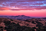 Rugged Red Skies Over Mount Diablo  Walnut Creek California