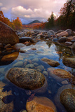 Rocky River in Autumn  Pemigewasset River  New Hampshire  New England