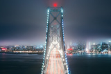 Blue City Bridge  Night View San Francisco California