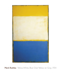 Yellow, White, Blue Over Yellow on Gray, 1954 Giclée par Mark Rothko