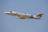 A US Air Forces in Europe C-21 Learjet Flying over Stuttgart  Germany