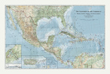 The Countries of the Carribean Giclée par The Vintage Collection