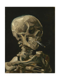 Skull of a Skeleton with Burning Cigarette Painting by Vincent Van Gogh  1886