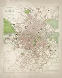Map of Dublin Giclée par The Vintage Collection