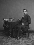 Thomas Edison with His Second Phonograph  Circa 1878