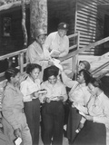 A Group of Nurses Receiving their First Batch of Mail from Home While in Australia in 1943
