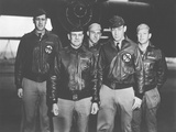 Vintage Wwii Photo of the Doolittle Tokyo Raiders Posing in Front of a B-25