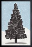 White Christmas Framed Art