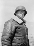 George S Patton Wearing a Leather Jacket with the Rank of Lieutenant General