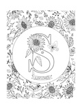 S is for Sunflower Poster à colorier par Heather Rosas
