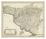 Antique Map of Tuscany