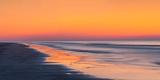 Sunrise at Beach with Blurry Moving Waves and Tide  Hilton Head Island  South Carolina  USA