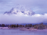 Oxbow Lake and Tetons  Wyoming