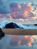 Sunrise and Tide Pool Reflection Kauai  Hawaii