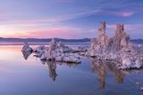 Salt Pillar Formations at Sunset  South Tufa  Mono Lake  California  USA