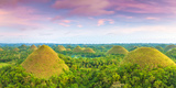 View of the Chocolate Hills Bohol  Philippines