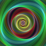 Colorful Abstract Geometric Spiral Design Background