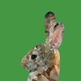 Abstract Polygonal Vector Illustration Portrait of Rabbit