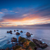 Rocks and Sea Stacks at Nugget Point Otago New Zealand  Sunrise