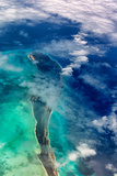 Aerial View of Islands and Clouds in the Bahamas