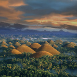 Sunrise  Chocolate Hills  Natural Wonder  Bohol Island Philippines