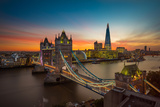 Twilight  Tower Bridge and the Shard at Sunset