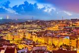 Lisbon  Portugal Skyline at Sunset