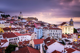 Lisbon  Portugal Skyline at Alfama  the Oldest District of the City
