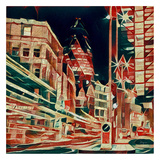 Distorted city scene 24