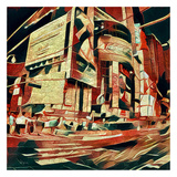 Distorted city scene 35