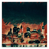 Distorted city scene 38