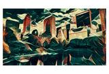 Distorted city scene 18