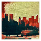 Distorted city scene 28