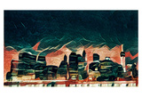 Distorted city scene 8