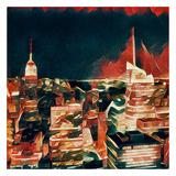 Distorted city scene 32