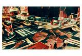 Distorted city scene 12