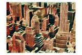 Distorted city scene 16