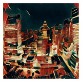 Distorted city scene 36