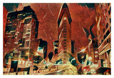 Distorted city scene 11